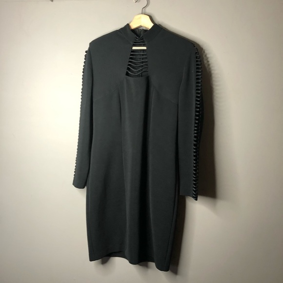 Joseph ribkoff black cut out long sleeve dress 12